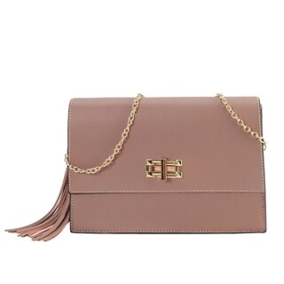 Diophy Medium Trun Lock Chain Strap Cross Body Handbag
