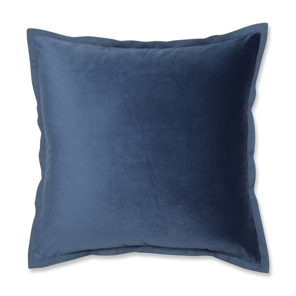 Shop Pillow Perfect Velvet Flange Azure Blue 18 Inch Throw