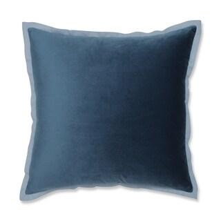 Pillow Perfect Velvet Flange Peacock Blue 18-inch Throw Pillow
