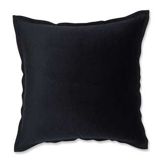 Pillow Perfect Velvet Flange Black 18-inch Throw Pillow
