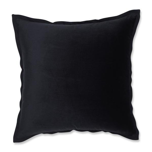 Pillow Perfect Velvet Flange Black 18-inch Throw Pillow