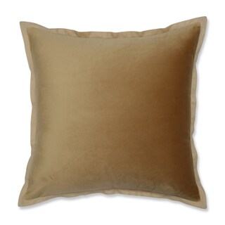 Pillow Perfect Velvet Flange Umber Gold 18-inch Throw Pillow