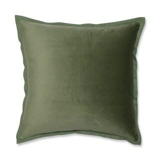 Pillow Perfect Velvet Flange Loden Green 18-inch Throw Pillow