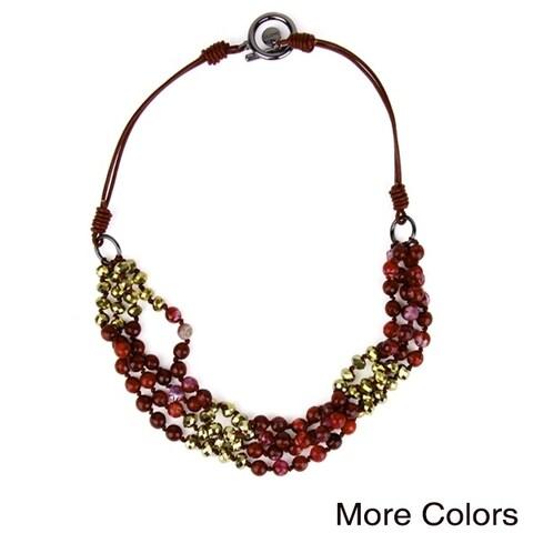 Handmade Saachi Brahma Beaded Necklace (China)