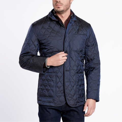 Flyweight Navy Blue Quilted Jacket