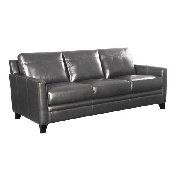 Shop Warner Top Grain Italian Leather Sofa - Free Shipping ...