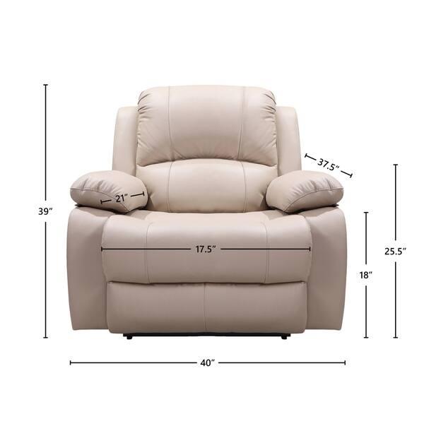 Admirable Bradley Top Grain Italian Leather Power Recliner Short Links Chair Design For Home Short Linksinfo