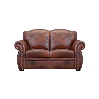 Casey Top Grain Italian Leather Loveseat