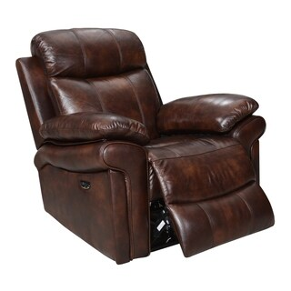 Hudson Top Grain Leather Recliner with Power Headrest