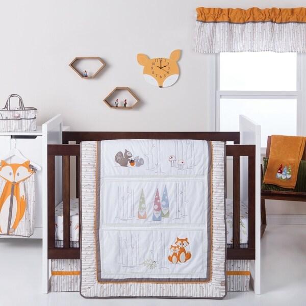 Trend Lab Gnome Boy 4 Piece Crib Bedding Set