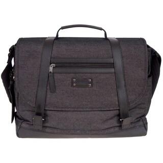 Renwick Messenger Bag W/Genuine Leather Trim