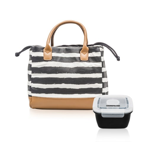 Cosmopolitan Lunch Bag with Salad Container