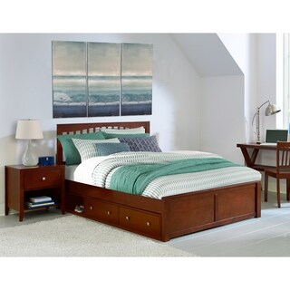 Hillsdale Pulse King Mission Bed with Storage , Cherry