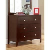 Hillsdale Pulse 3 Drawer Dresser, Cherry