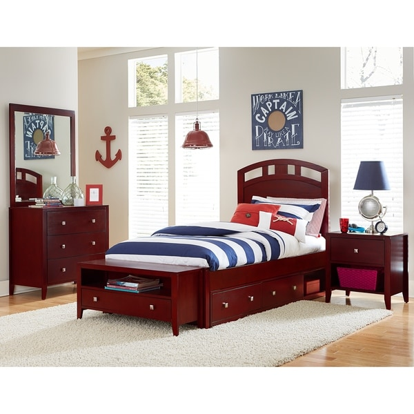 Hillsdale Pulse Full Arch Bed with Storage, Cherry