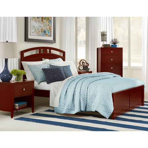 Hillsdale Pulse Queen Arch Bed, Cherry