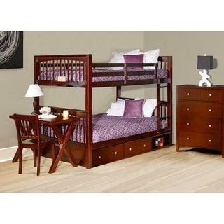 Hillsdale Pulse Cherry Wood Full-over-full Bunk Bed With Storage