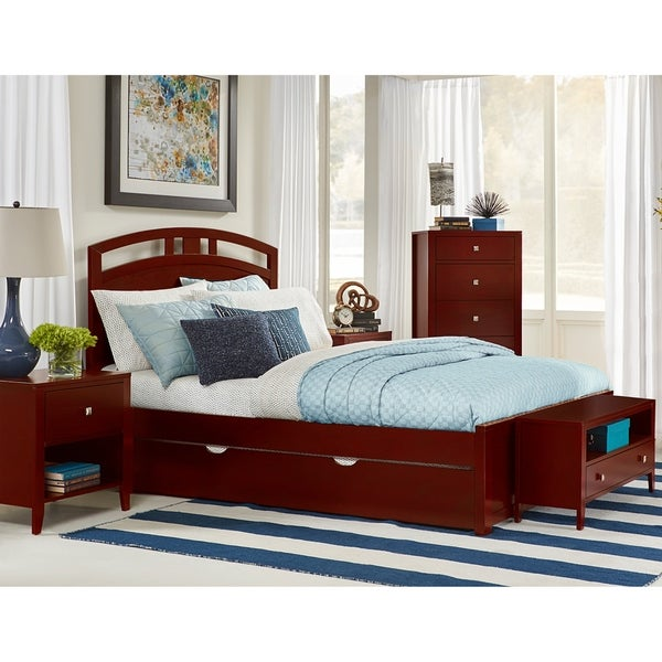 Hillsdale Pulse Queen Arch Bed with Trundle, Cherry