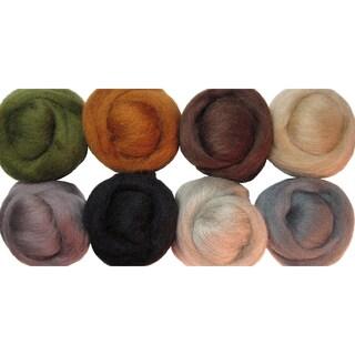 "Wool Roving 12"" .25oz 8/Pkg-Rustic"