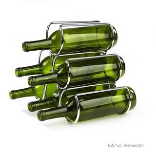 Mind Reade Steel Framed Pyramid Shaped Wine Bottle Holder Organizer, Silver