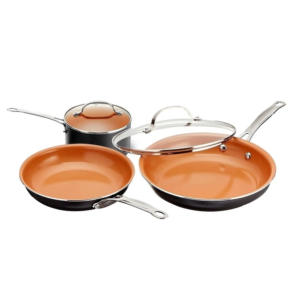 Gotham Steel 5 Piece Round Cookware Set Non-stick Copper