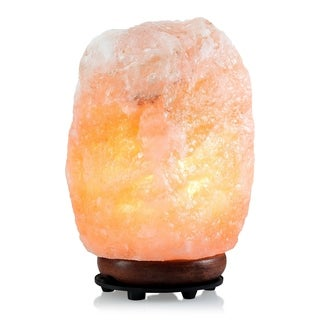 Himalayan Natural Aromatherapy 8-inch Salt Lamp Charcoal Orange