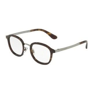 535b0ee2963c Shop Dolce   Gabbana Men s DG1296 502 48 Havana Metal Eyeglasses - Free  Shipping Today - Overstock - 18008308