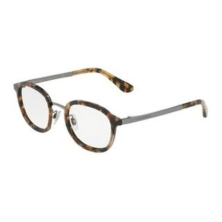 Dolce & Gabbana Men's DG1296 3141 48 Blue Havana Metal Eyeglasses