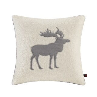 Woolrich Moose White 18 inch Square Berber Throw Pillow