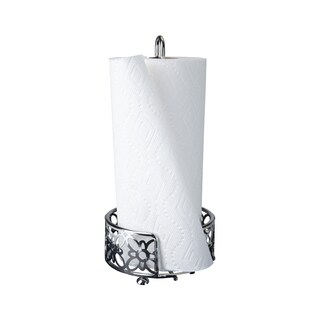 Mind Reader Free Standing Metal Paper Towel Holder