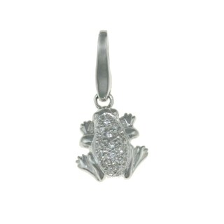 Isla Simone 925 Sterling Silver Frog with White Pave CZ CharmIsla Simone 925 Sterling Silver Frog with White Pave CZ Charm