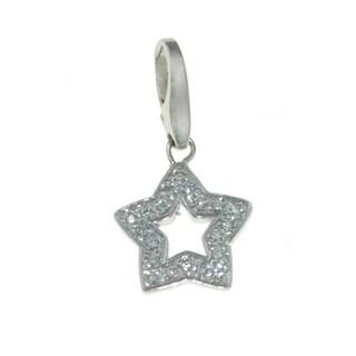 Isla Simone Fine 925 Sterling Silver Star with White CZ Charm Jewelry