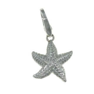 Isla Simone 925 Sterling Silver Ocean Lucky Star Fish Charm