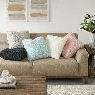 Madison Park Zoe Soild Mohair 20 inch Decorative Throw Pillow