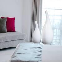 Modern White Abstract Floor Vase