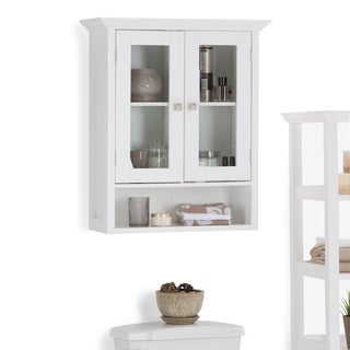WYNDENHALL Normandy Double Door Wall Cabinet in White