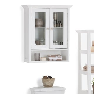 WYNDENHALL Normandy 28 inch H x 23.6 inch W Double Door Wall Bath Cabinet in White