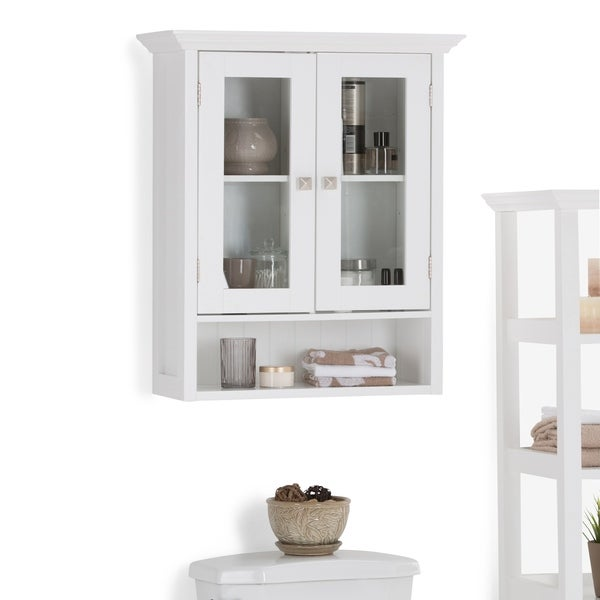 WYNDENHALL Normandy Double Door Wall Bath Cabinet In White