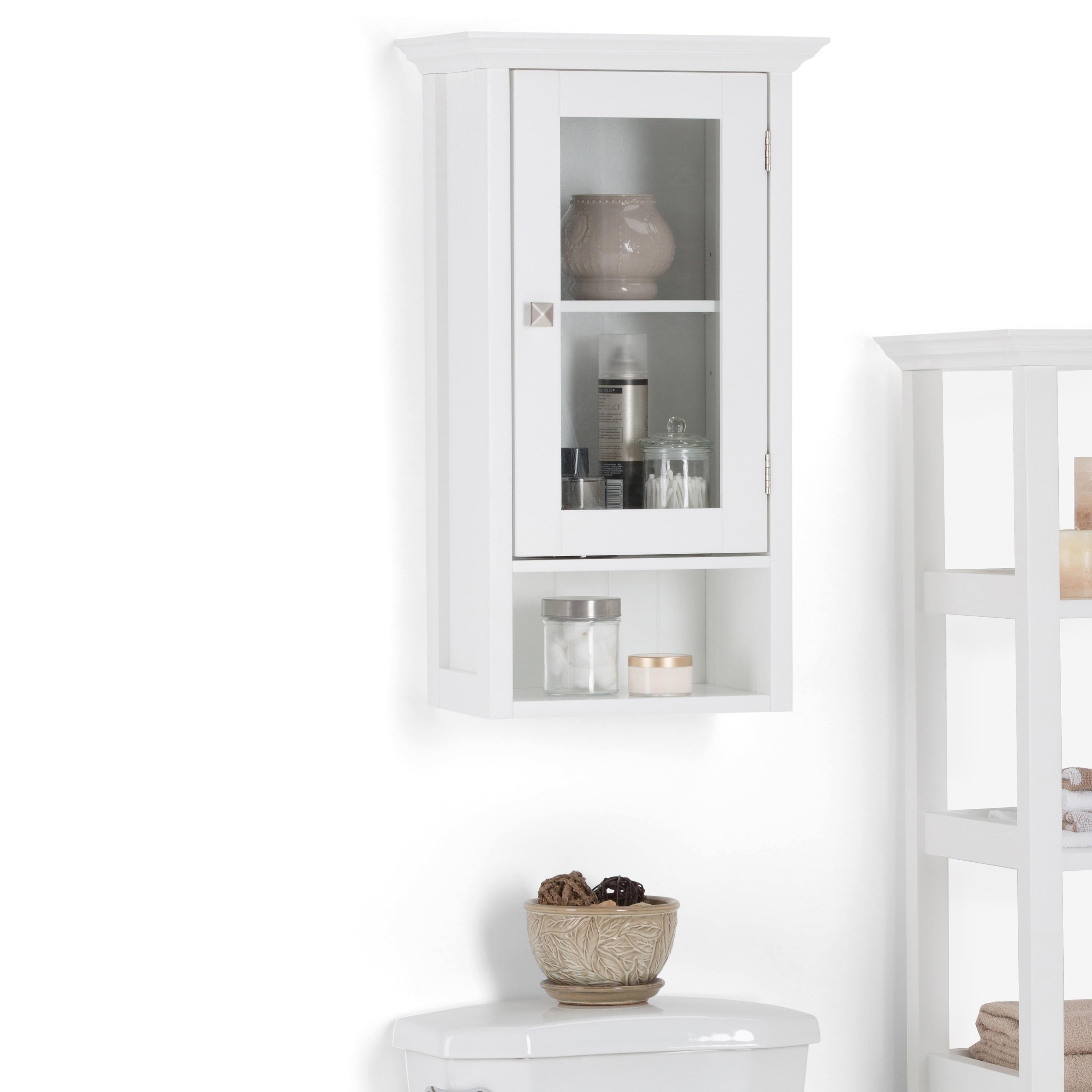 Wyndenhall Normandy 28 Inch H X 15 75 W Single Door Wall Bath Cabinet In White