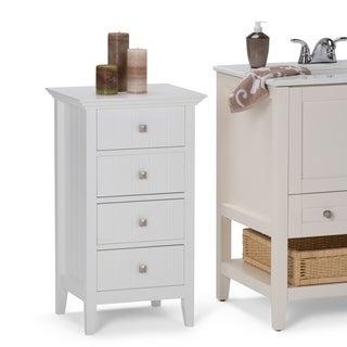 WYNDENHALL Normandy 4 Drawer Floor Bath Cabinet in White