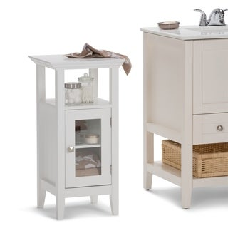 WYNDENHALL Normandy Floor Storage Bath Cabinet in White