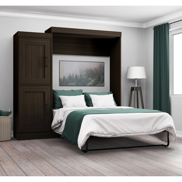 Edge By Bestar Full Wall Bed With 2 Door Storage Unit