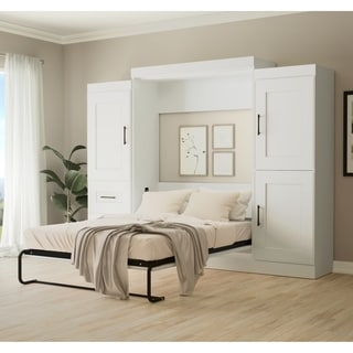 """Edge by Bestar Full Wall Bed with two 25"""" Storage Units"""