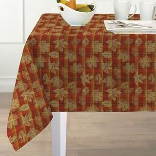 Jeffrey Plaid Fabric Harvest Cotton Woven Tablecloth