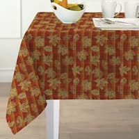 Jeffrey Plaid Fabric Harvest Cotton Woven Tablecloth