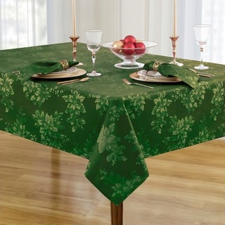 Metallic Holiday Fabric Damask Christmas Tablecloth