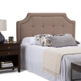WYNDENHALL Charlene Queen Tufted Headboard in Mocha