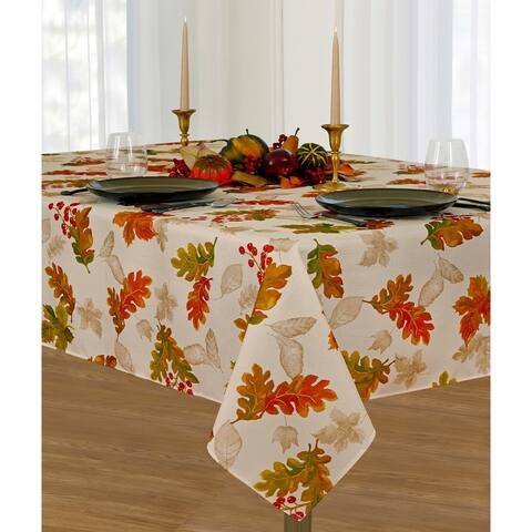 Swaying Leaves Allover Print Fall Tablecloth
