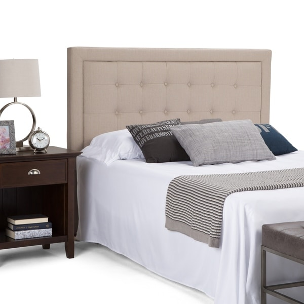 WYNDENHALL Olivia Queen Tufted Upholstered Headboard in Camel