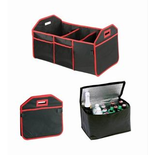 Trunk Caddy All-in-One Trunk Organizer with Hot and Cold Storage Pouch
